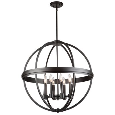 Georgea 8-Light Globe Pendant Finish: Oil Rubbed Bronze