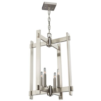 Moumoune 4-Light Foyer Pendant Finish: Polished Nickel