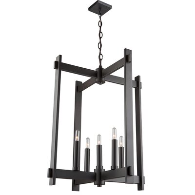 Moumoune 5-Light Foyer Pendant Finish: Oil Rubbed Bronze