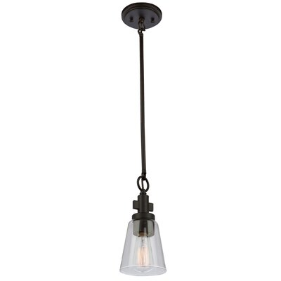 Jina 1-Light Mini Pendant Finish: Oil Rubbed Bronze