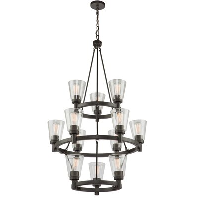 Jina 12-Light Candle-Style Chandelier Finish: Oil Rubbed Bronze