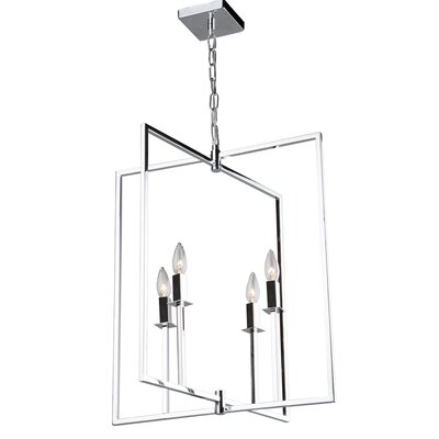 Camillea 4-Light Foyer Pendant Finish: Chrome