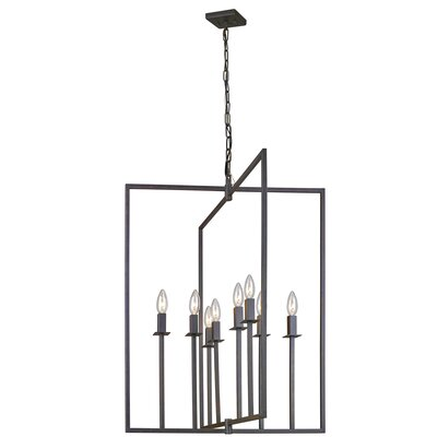 Camillea 8-Light Metal Foyer Pendant Finish: Oil Rubbed Bronze