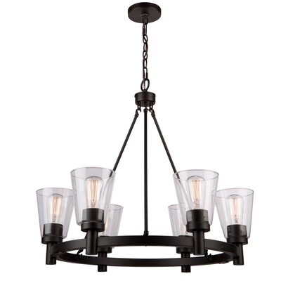 Jina 6-Light Shaded Chandelier Finish: Oil Rubbed Bronze