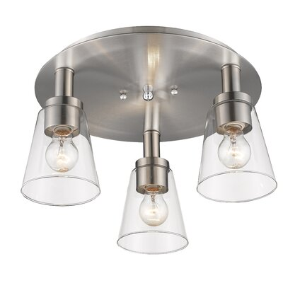 Jina 3-Light Flush Mount Finish: Brushed Nickel