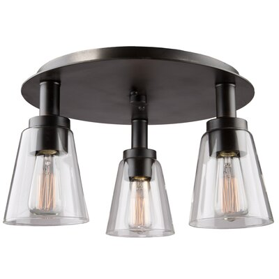 Clarence 3-Light Flush Mount Finish: Oil Rubbed Bronze