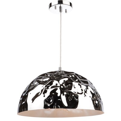 Metal 1-Light Inverted Pendant Finish: Chrome