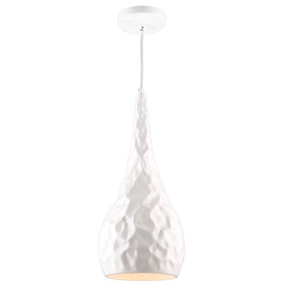 Thornburg Metal 1-Light Mini Pendant Finish: Glossy White