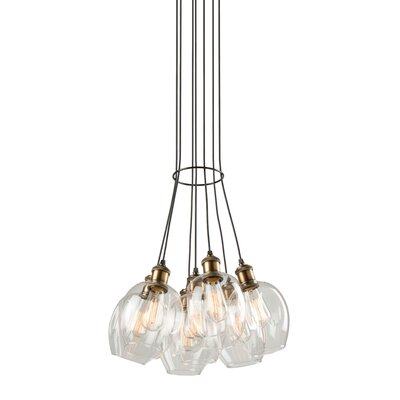 Farhin 7-Light Cluster Pendant Shade Color: Polished Nickel