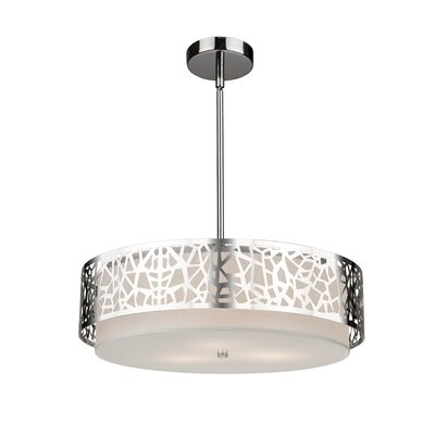 Bayview 3-Light Drum Pendant Size: 48 H x 16 W x 16 D