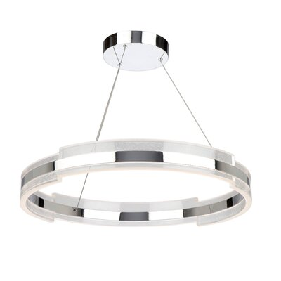 Saturn 1-Light Geometric Pendant