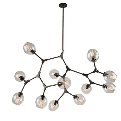 Efird 12-Light Sputnik Chandelier Finish: Black