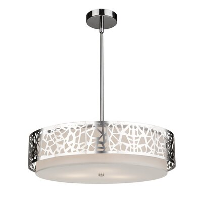 Bayview 3-Light Drum Pendant Size: 48 H x 20 W x 20 D