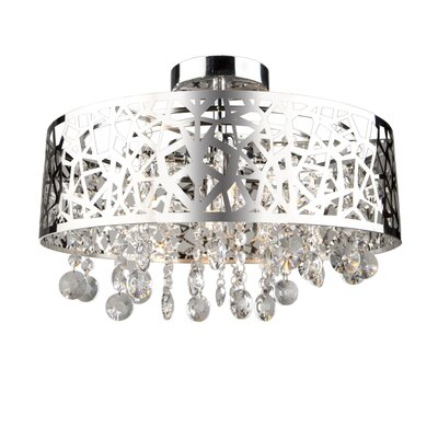 Celestial 4-Light Semi Flush Mount