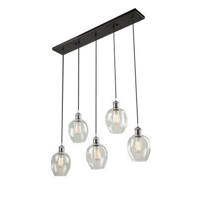Farhin 5-Light Kitchen Island Pendant Shade Color: Vintage Brass