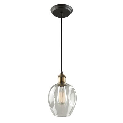 Clearwater 1-Light Mini Pendant Shade Color: Polished Nickel