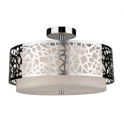 Krystyna 3-Light Semi Flush Mount