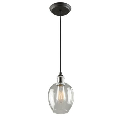 Farhin 1-Light Mini Pendant Shade Color: Vintage Brass