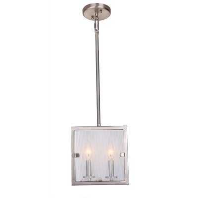 Harbor Point 2-Light Lantern Pendant Finish: Satin Nickel