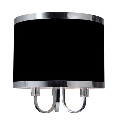 Madison 3-Light Flush Mount Finish: Black