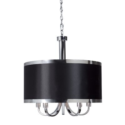 Madison 5-Light Drum Pendant Finish: Black