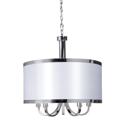 Daysi 5-Light Drum Pendant Finish: White