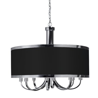 Madison 8-Light Drum Pendant Finish: Black