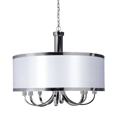 Madison 8-Light Drum Pendant Finish: White