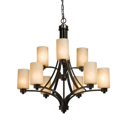 Amal 9-Light Shaded Chandelier Finish: Oil Bronze