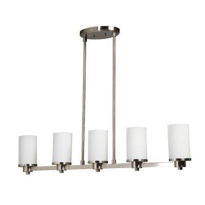 Amal 5-Light Kitchen Island Pendant Finish: Polished Nickel