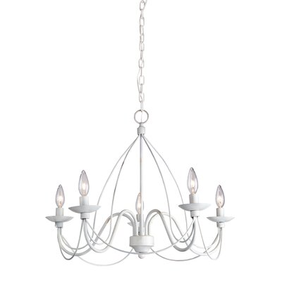 Randon 5-Light Candle-Style Chandelier Finish: Antique White