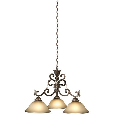 Ironwood 3-Light Shaded Chandelier