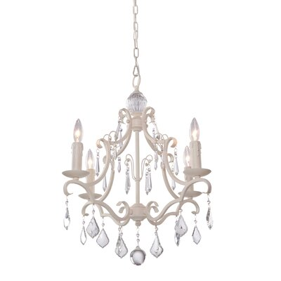 Parenteau 4-Light Candle-Style Chandelier Finish: Antique White