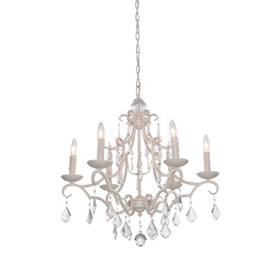 Vintage 6-Light Candle-Style Chandelier Finish: Antique