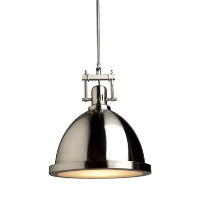Farnham 1-Light Pendant Finish: Polished Nickel