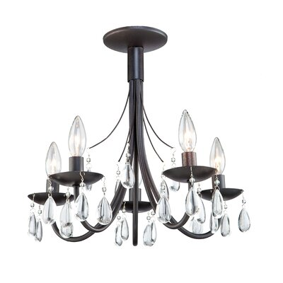 Terramo 5-Light Candle-Style Chandelier Finish: Bronze
