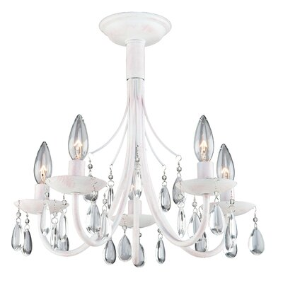Terramo 5-Light Candle-Style Chandelier Finish: White