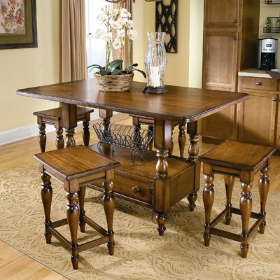 image of southern living shenandoah valley 5 piece island dining set