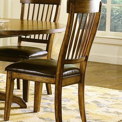 Ridge Furniture on Blue Ridge Retreat Ladder Back Side Chair In Distressed Chestnut Oak