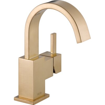 Vero Single Hole Bathroom Faucet with Metal Pop Up Drain Finish: Brilliance Champagne Bronze
