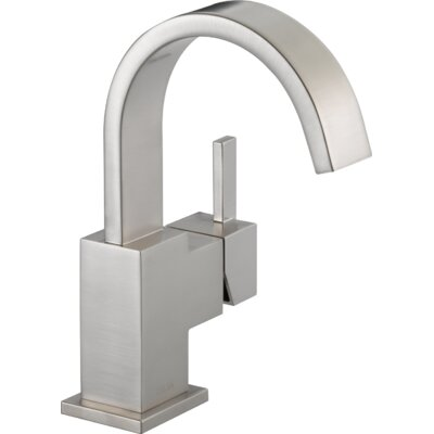 Vero Single Hole Bathroom Faucet with Metal Pop Up Drain Finish: Brilliance Stainless
