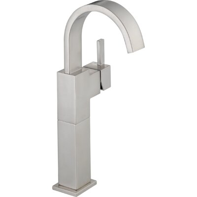 Vero Single Hole Vessel Bathroom Faucet with Riser Finish: Brilliance Stainless
