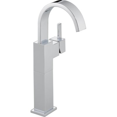 Vero Single Hole Vessel Bathroom Faucet with Riser Finish: Chrome