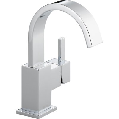 Vero Single Hole Bathroom Faucet with Metal Pop Up Drain Finish: Chrome