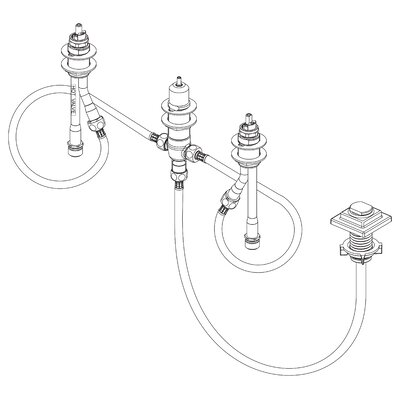 4-Hole Roman Tub Rough-In Valve Kit Only