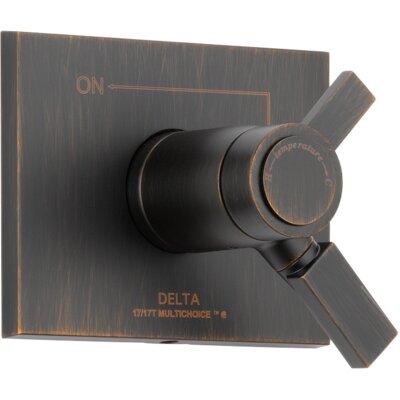 Vero Volume Control Faucet Trim with Lever Handles Finish: Venetian Bronze