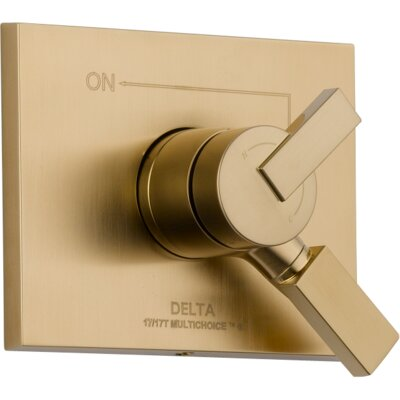 Vero Volume Control Faucet Trim with Lever Handles Finish: Brilliance Champagne Bronze