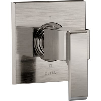 Ara Shower Faucet Trim with Lever Handle Finish: Brilliance Stainless