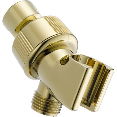 Shower Arm Mount - Adjustable Finish: Brilliance Polished Brass