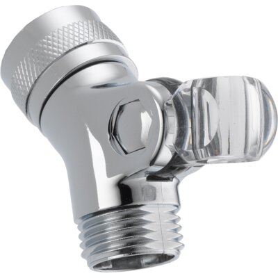 Universal Showering Components Brass Pin Mount Swivel Connector For Handshower Finish: Chrome